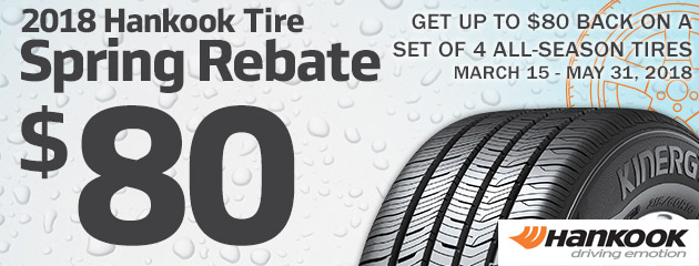 Hankook Canada - Up to $80 Rebate