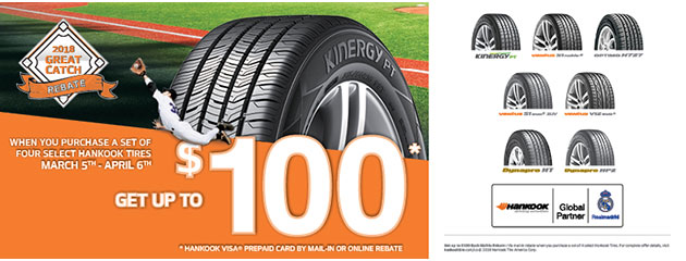 Hankook - Up to $100 Rebate