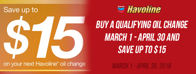 Save up to $15 On Your Next Oil Change