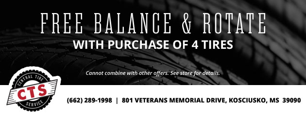 Free Balance and Rotate With Purchase of 4 Tires