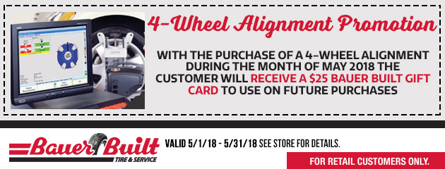 4 Wheel Alignment Promotion