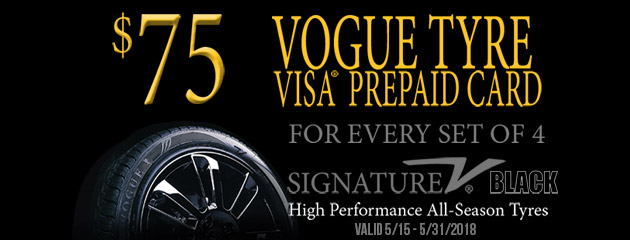 Vogue Tyre - $75 Prepaid Card with 4 Select Tires