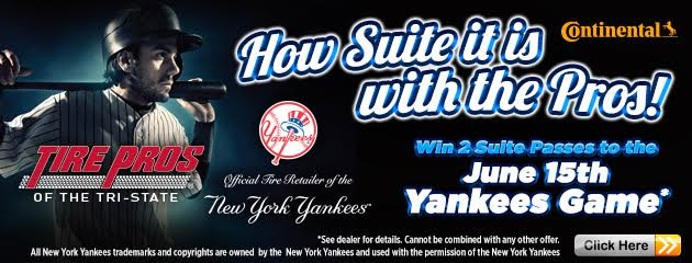 Win 2 Suite Passes to the June 15 Yankees Game