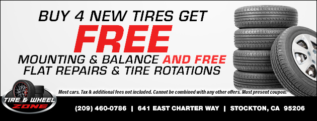 Buy 4 New Tires and Get Free Mounting, Balance, Flat Repairs & Tire Rotations