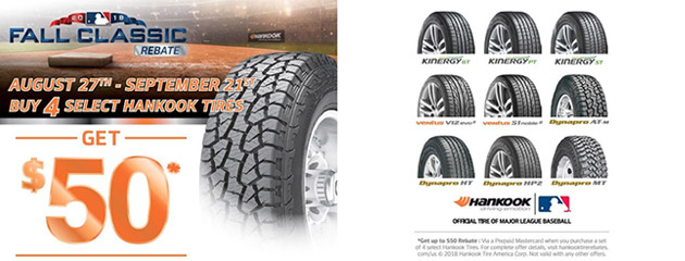 Hankook - Fall Classic Rebate