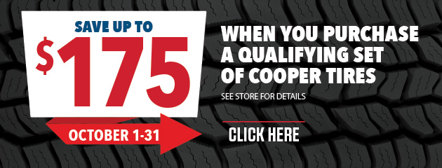 Cooper - Up to $175 On Qualifying Tires