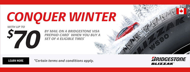 Bridgestone Canada - Up to $70 Promotion