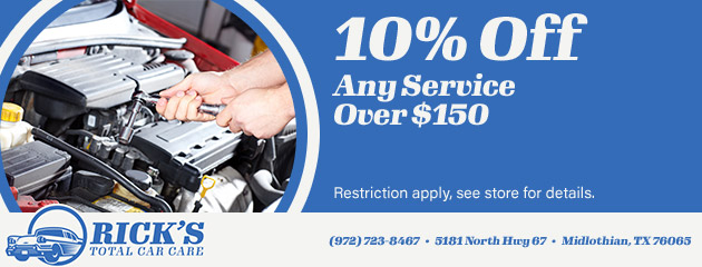 10% Off Any Service Over $150