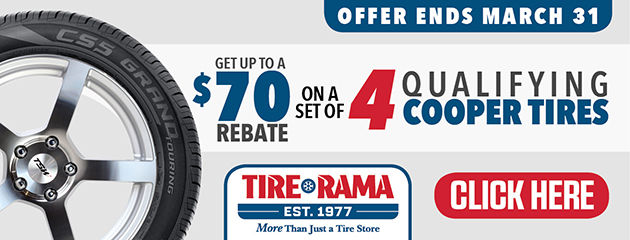 Tire Rama Cooper Tires - Up to $70 Rebate