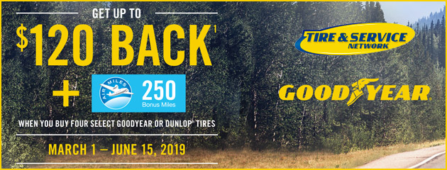 Goodyear TSN Canada - Up to $120 Back on Select Tires