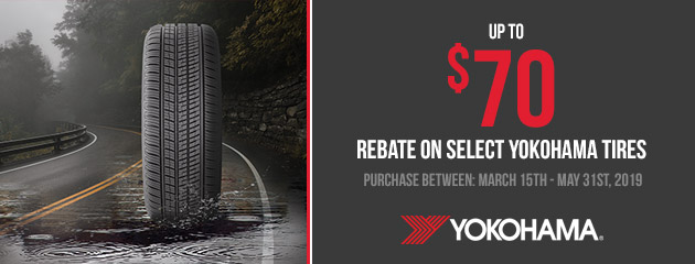 Yokohama Canada - Up to $70 Rebate on Select Tires