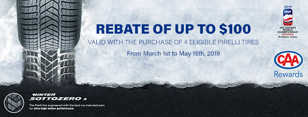 Pirelli Canada - Up to $100 Rebate