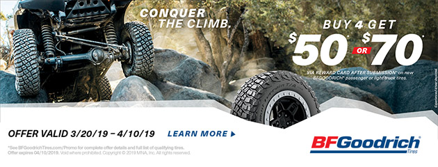 BFGoodrich - Up to $70 Reward Card