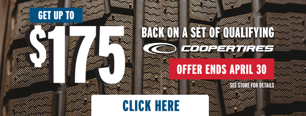 Cooper - Up to $100 Back on Select Tires