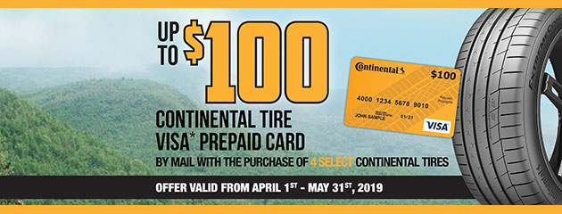 Canada Continental - Up to $100 Rebate