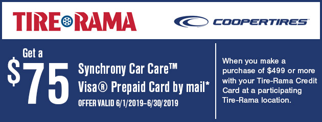 Tire Rama - $75 Prepaid Card by Mail