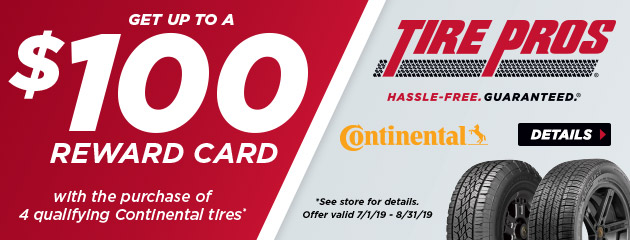 Tire Pros Continental - Up to $100 Prepaid Card