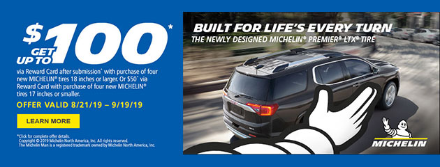 Michelin - Up to $100 Reward