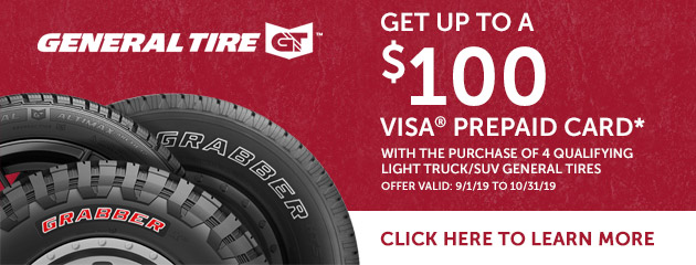 General Tire - Up to $100 Visa Prepaid Card