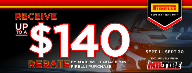Mr.Tire - Pirelli Up to $60 Rebate