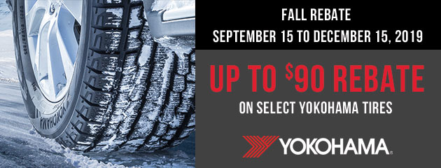 Yokohama Canada - Up to $90 Rebate on Select Tires