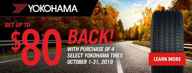 Yokohama - Up to $80 Rebate