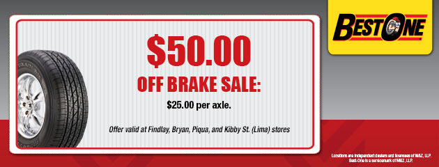 $50.00 Off Brake Sale Coupon