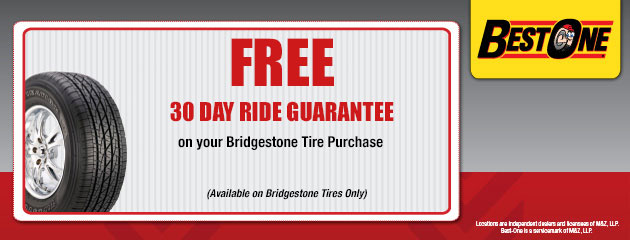 Bridgestone 30 Day Ride Guarantee