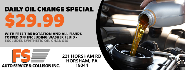 aily oil change special $29.99