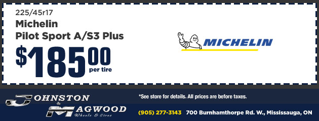 Michelin Pilot Sport A/S3 Plus $279 per tire