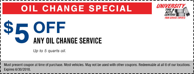 $5 Off Any Oil Change Service Special