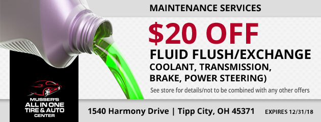 $20.00 Off any Fluid Flush/Exchange