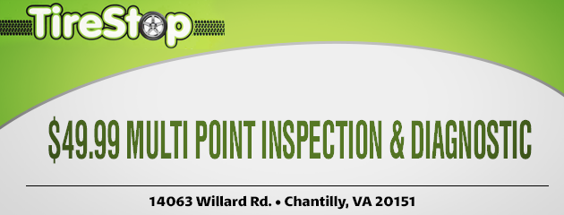 $49.99 Multi Point Inspection & Diagnostic