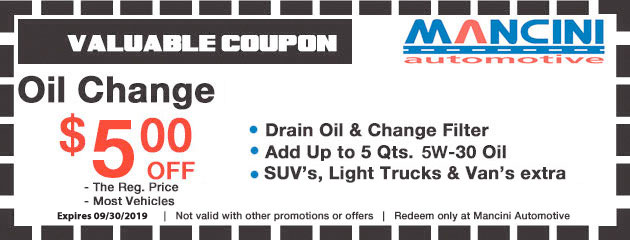 $5 Off Oil Changes