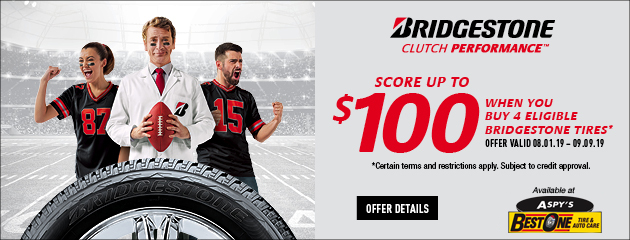 Bridgestone CFNA - Score up to $100 on 4 Select Tires
