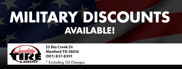 Military Disounts Available!