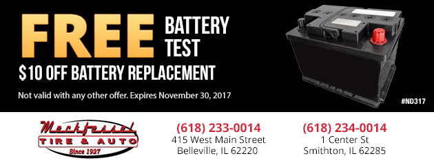 FREE Battery Test / $10 off battery Replacement