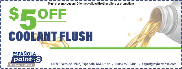 $5 off Coolant Flush