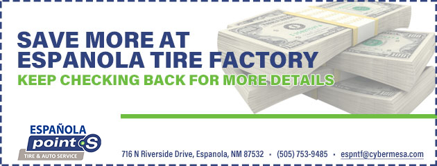 Espanola Tire Factory_Coupons Specials