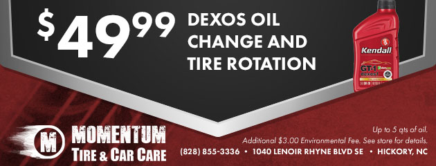 $49.99 Dexos Oil Change & Tire Rotation