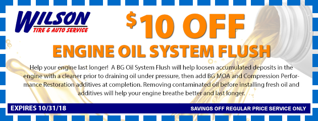 $10 OFF Engine Oil System Flush