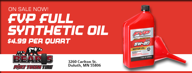 FVP Full Sythetic Oil - $4.99 per Quart