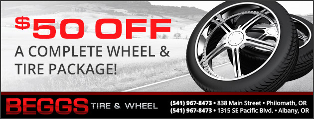 $50.00 Off a Complete Wheel & Tire Package