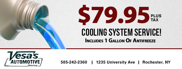 $79.95  Cooling System Service