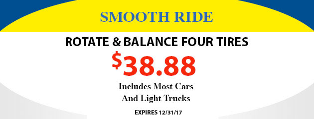 Balance and Rotate 4 Tires - $38.88