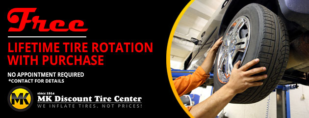 Free Lifetime Tire Rotation With Purchase