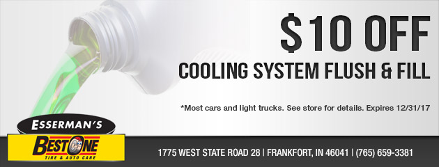 $10 Off Cooling System Flush and Fill