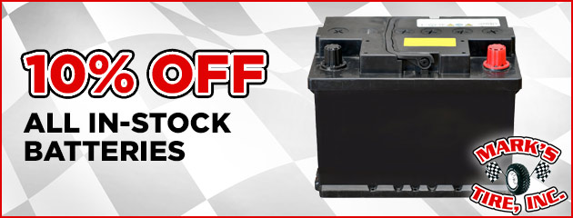 10% Off All In-Stock Batteries