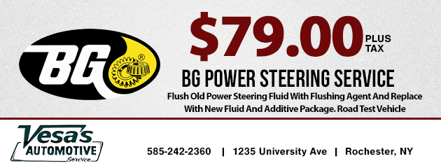 $79 BG Power Steering Service