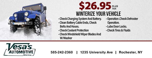 $26.95 - Winterize Your Vehicole